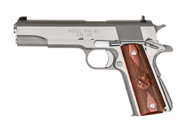 Springfield Armory 1911 Mil-Spec Stainless Steel Handgun Gun For Sale